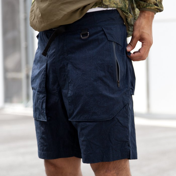 snow peak  * Indigo C/N Anorak Short Pants * Black