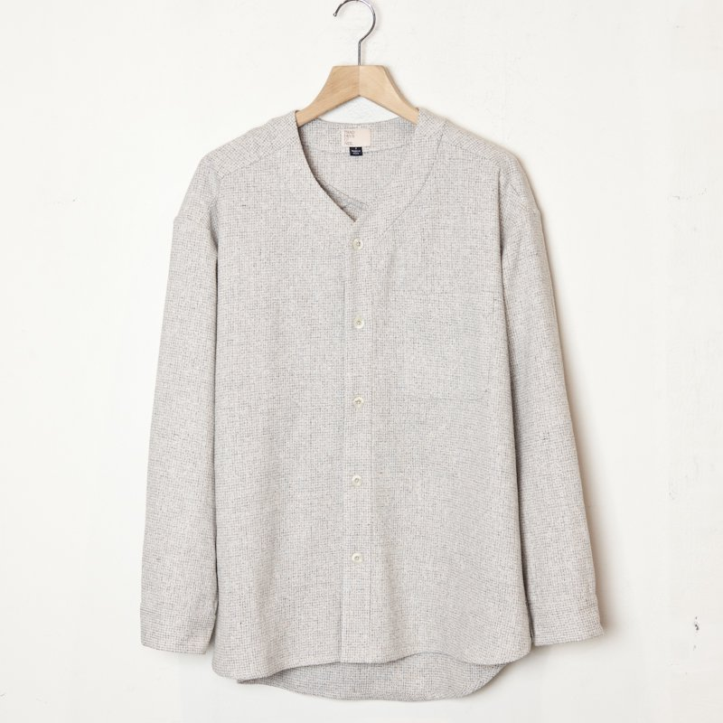 THADDEUS O'NEIL * Wool Silk Shirt * Ivory
