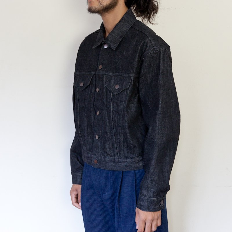 UNUSED * 13.5oz Denim Jacket * Black