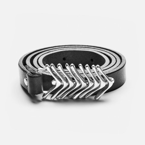 JILL PLATNER * fish tail belt * Black