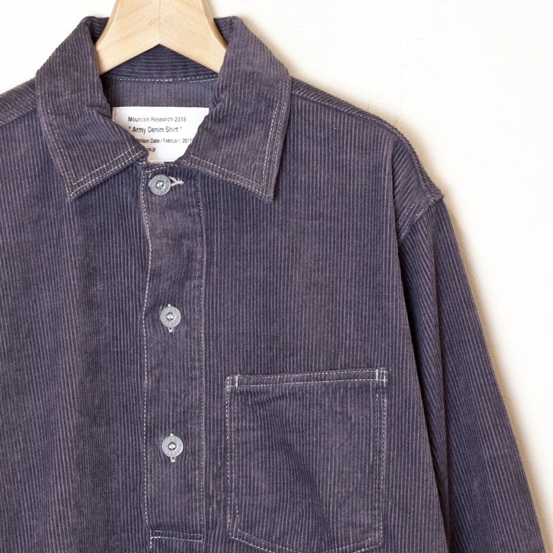 Mountain Reseach * ARMY DENIM SHIRT * C.Gray