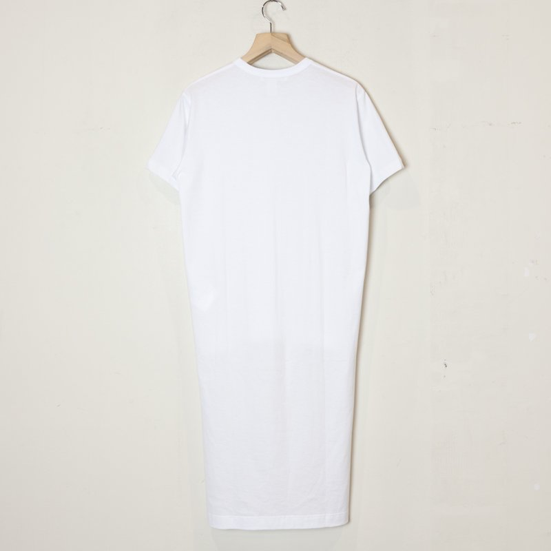 COMME des GARCONS SHIRT * Cotton Jersey Plain Long T-Shirt * White