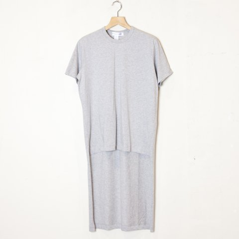 COMME des GARCONS SHIRT * Cotton Jersey Plain Long T-Shirt * Grey