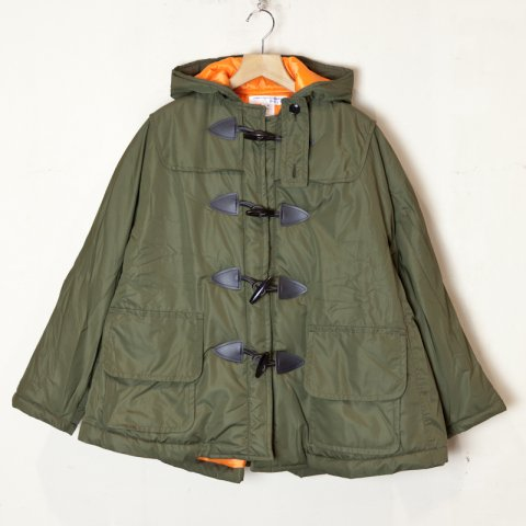 COMME des GARCONS SHIRT * boys Polyester Cloth × Rayon Lining Duffle Coat * Olive