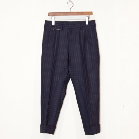 EESETT&Co * LAUREL Plain Trousers * Navy Stripe