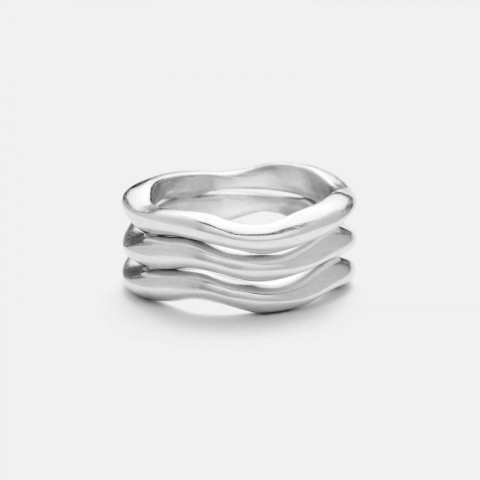 JILL PLATNER * wavy stack set of 3