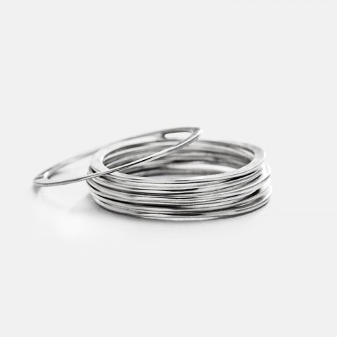 JILL PLATNER * wafer rings set of 7