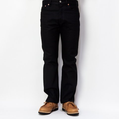 DAWSON DENIM * Regular Fit Jeans 14oz  Black×Black Red Line Selvedge