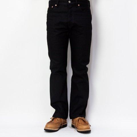 DAWSON DENIM * Regular Fit Jeans 14oz  Black×Black Red Line Selvedge