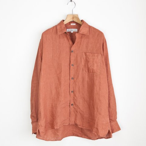 INDIVIDUALIZED SHIRTS * Camp Linen Long Sleeve Shirt Washed * Rust