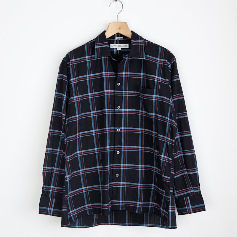 INDIVIDUALIZED SHIRTS * Camp Check Long Sleeve Shirt Washed * Navy