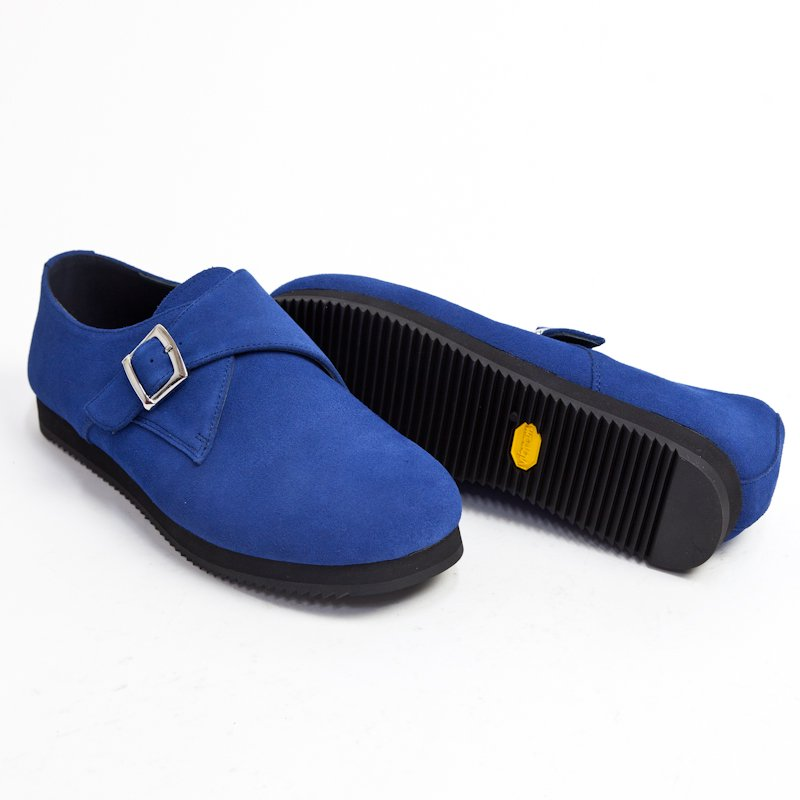 UNUSED * × SUICOKE Monk Strap Shoes * Royal Blue