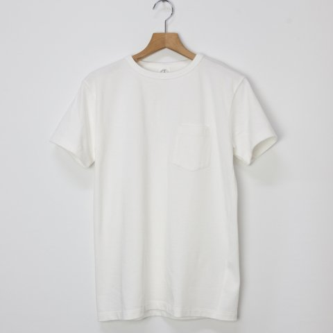 DAWSON DENIM * 9oz British Made Organic Pocket Tee * White
