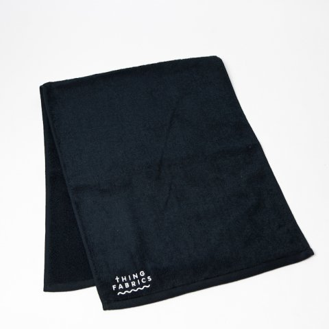 THING FABRICS * TIP TOP 365 Face Towel * Black