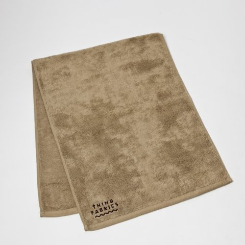 THING FABRICS * TIP TOP 365 Face Towel * Khaki Beige