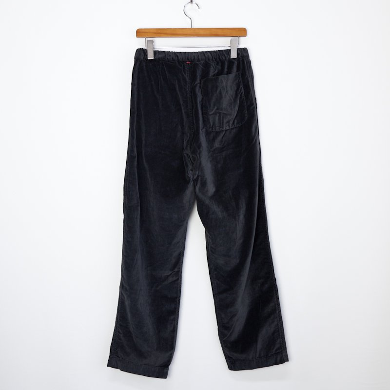 CASEY CASEY * 11HP124 VELVET PANTS BASIC LONG * Dark Grey