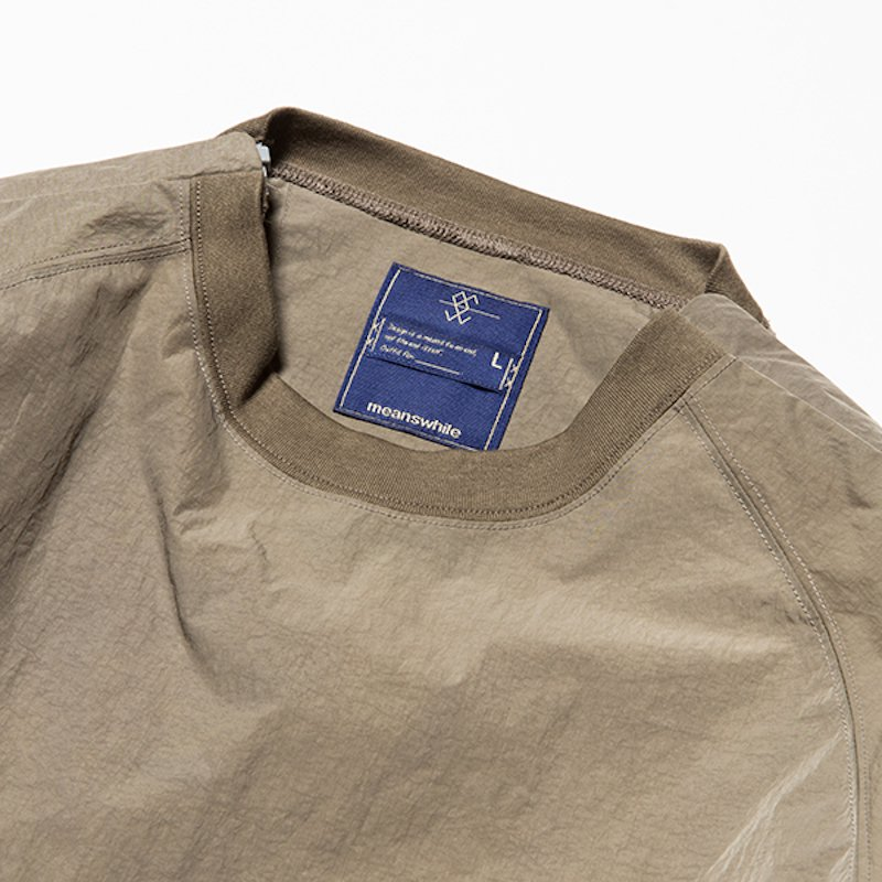 meanswhile * Nylon Popper Shirt * Olive