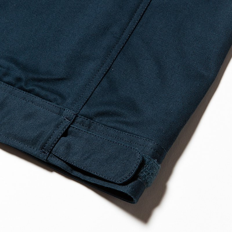 meanswhile * Cotton Chino Wrap Pant * Iron Blue