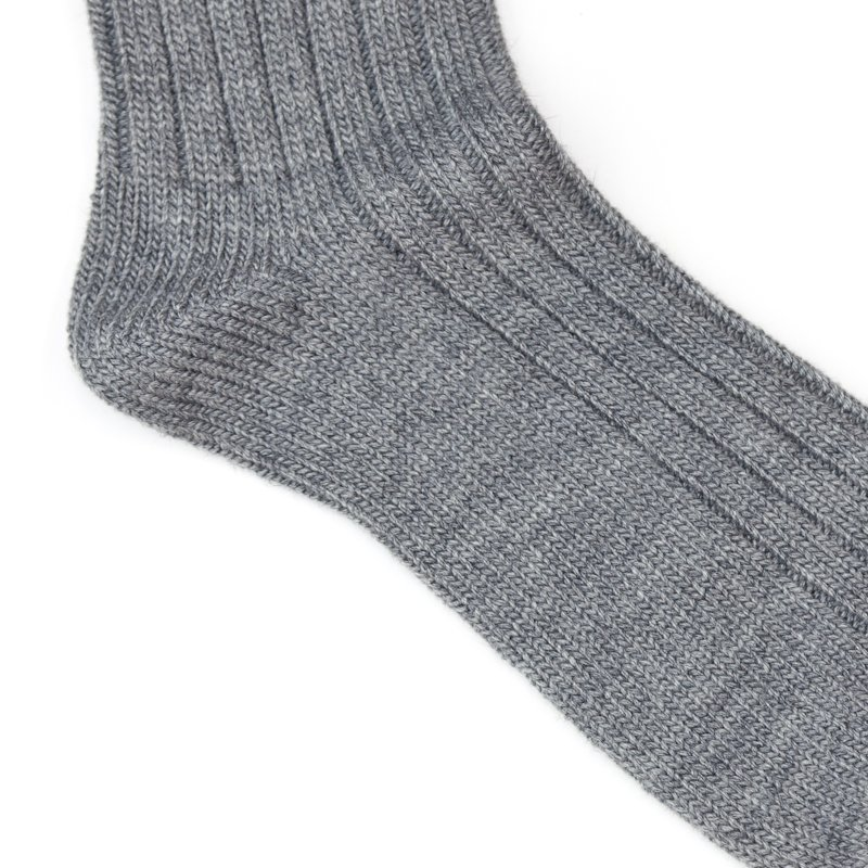 Trad Marks * Old Rib Socks Angora * Gray
