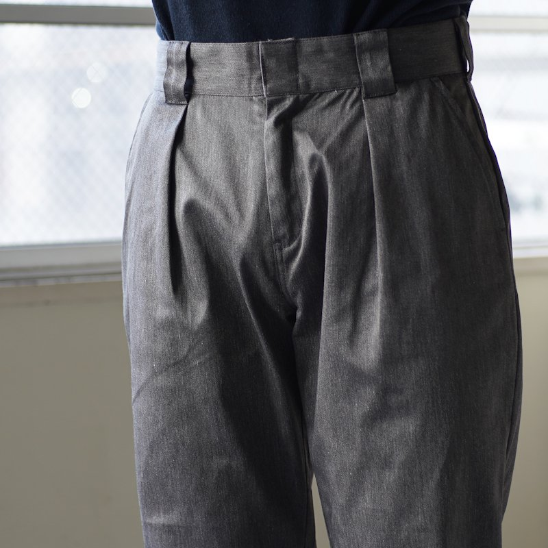 COWDEN * One Tuck Pants * Gray