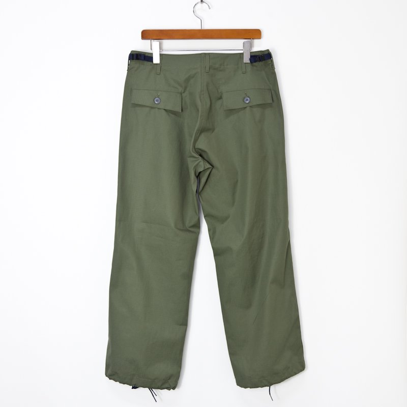 YOUNG & OLSEN the DRYGOODS STORE * CARGO LESS CAMO TROUSER * Olive