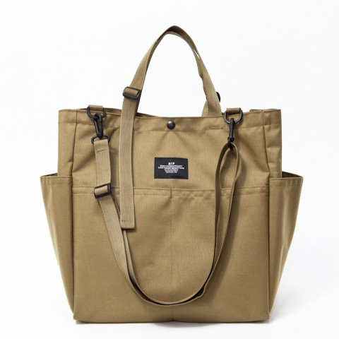BAGSINPROGRESS * CARRY ALL BEACH TOTE * Khaki