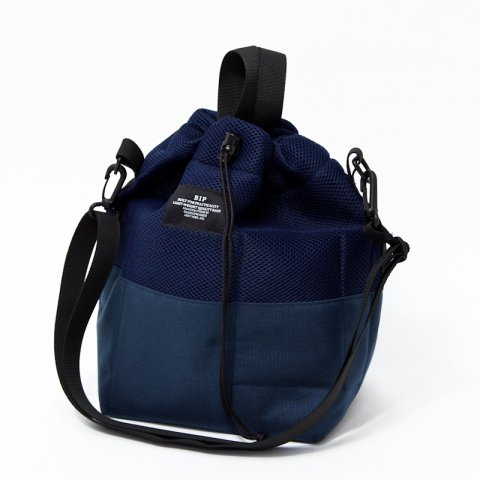 BAGSINPROGRESS * MESH BUCKET TOTE * Navy