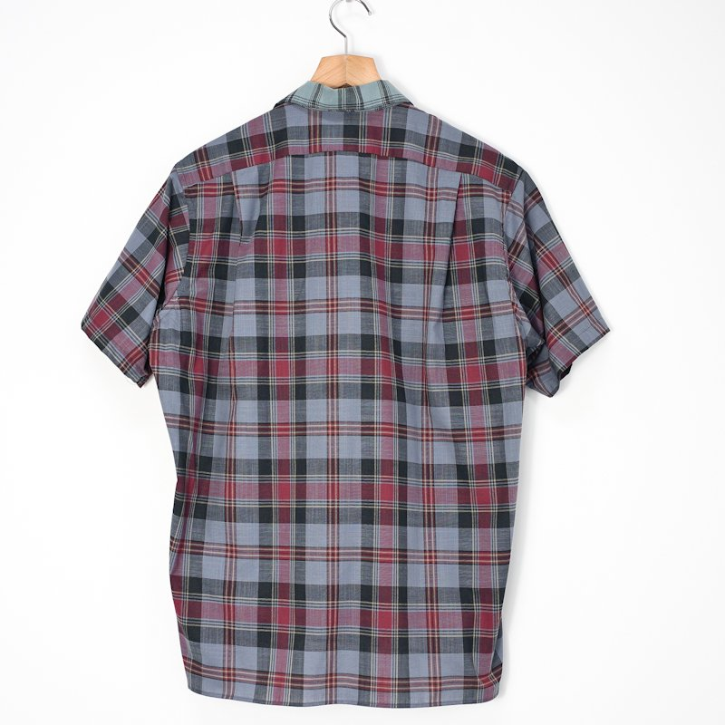 INDIVIDUALIZED SHIRTS for public * Camp Check Short Sleeve Shirt * 襟Green