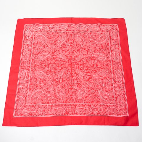 DEADSTOCK * Blumer Paisely Pattern Bandana * Red