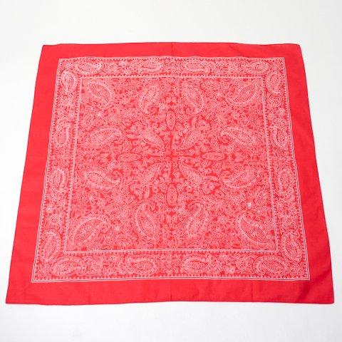 DEADSTOCK * Blumer Paisely Pattern Bandana * Red