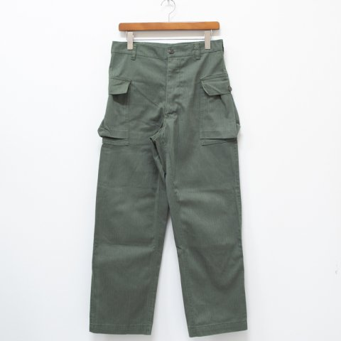 DEADSTOCK * Made in France M-43 Type Herringbone Twill Trousers * Olive T40A