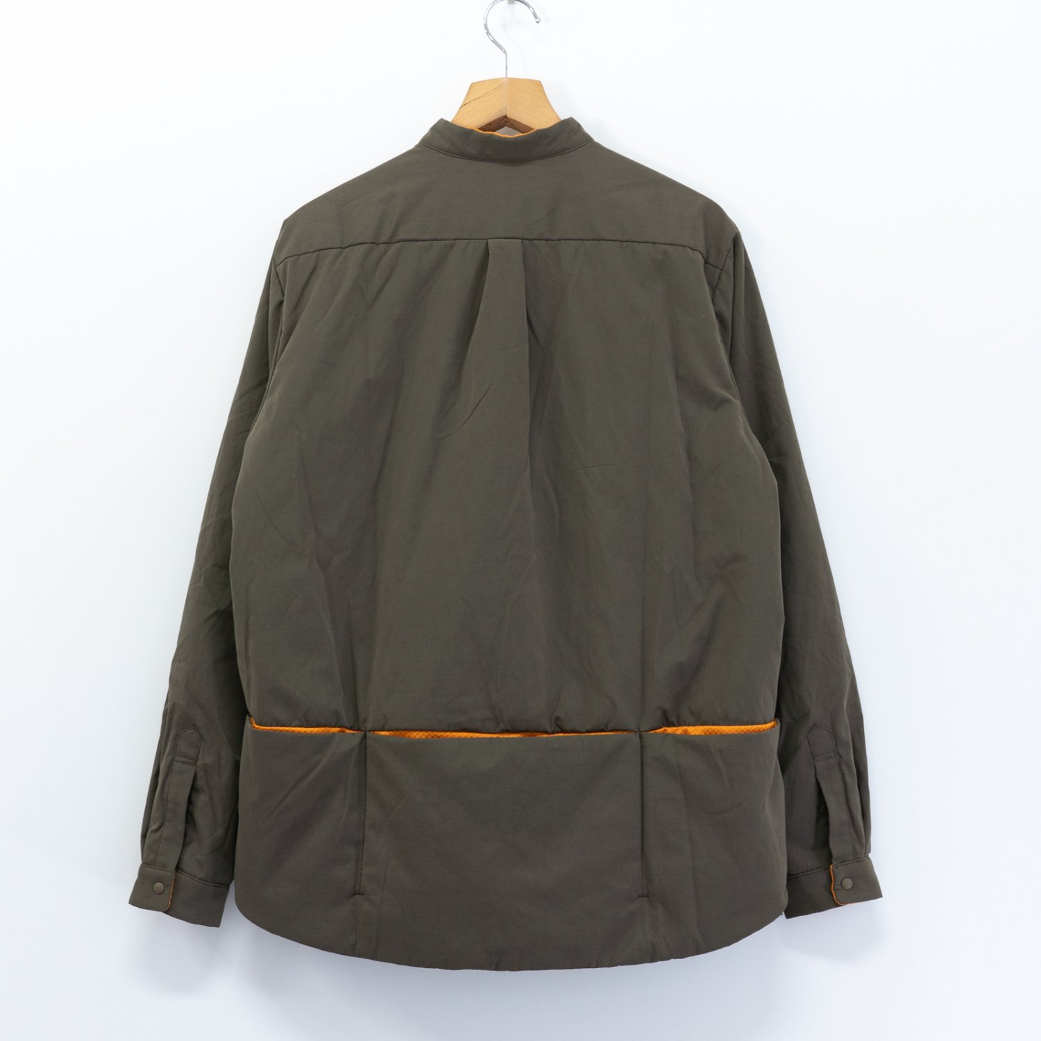 meanswhile * Peach Cloth Thinsulate Shirt * Olive