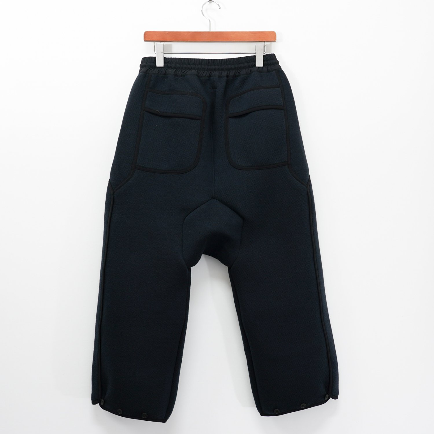 BYBORRE * WOOL CROPPED PANTS WOOL-650 * Deep Blue