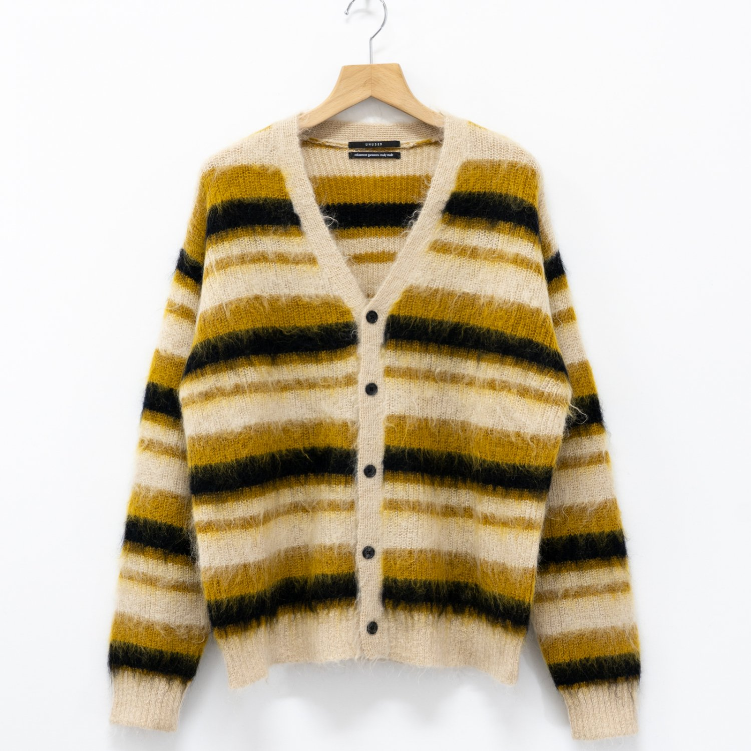 UNUSED * US1650 5G Border Knit Cardigan * Yellow
