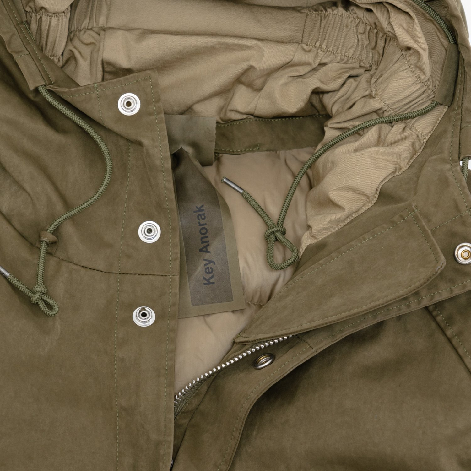Ten-c * KEY ANORAK * Olive