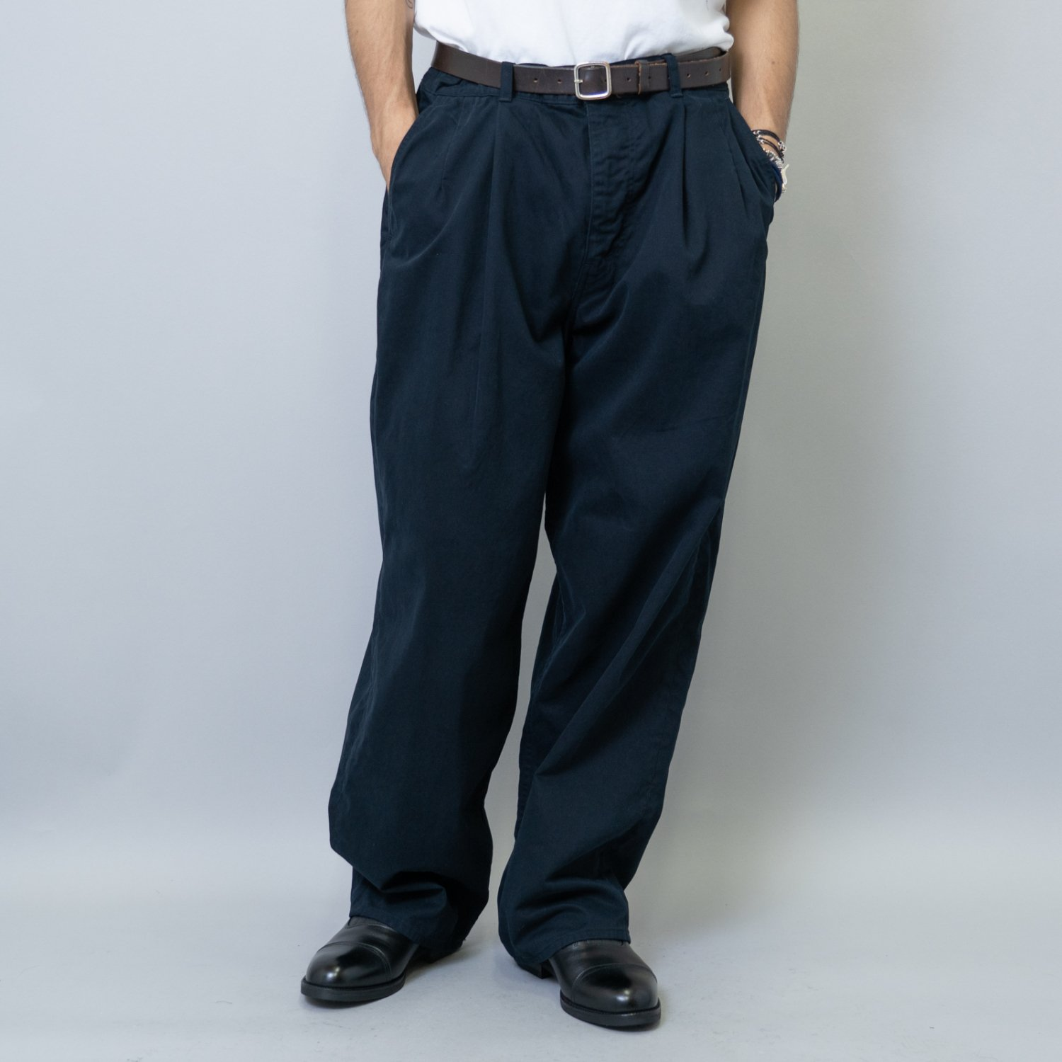 Graphpaper * Military Cloth 2Tuck Pants * Navy