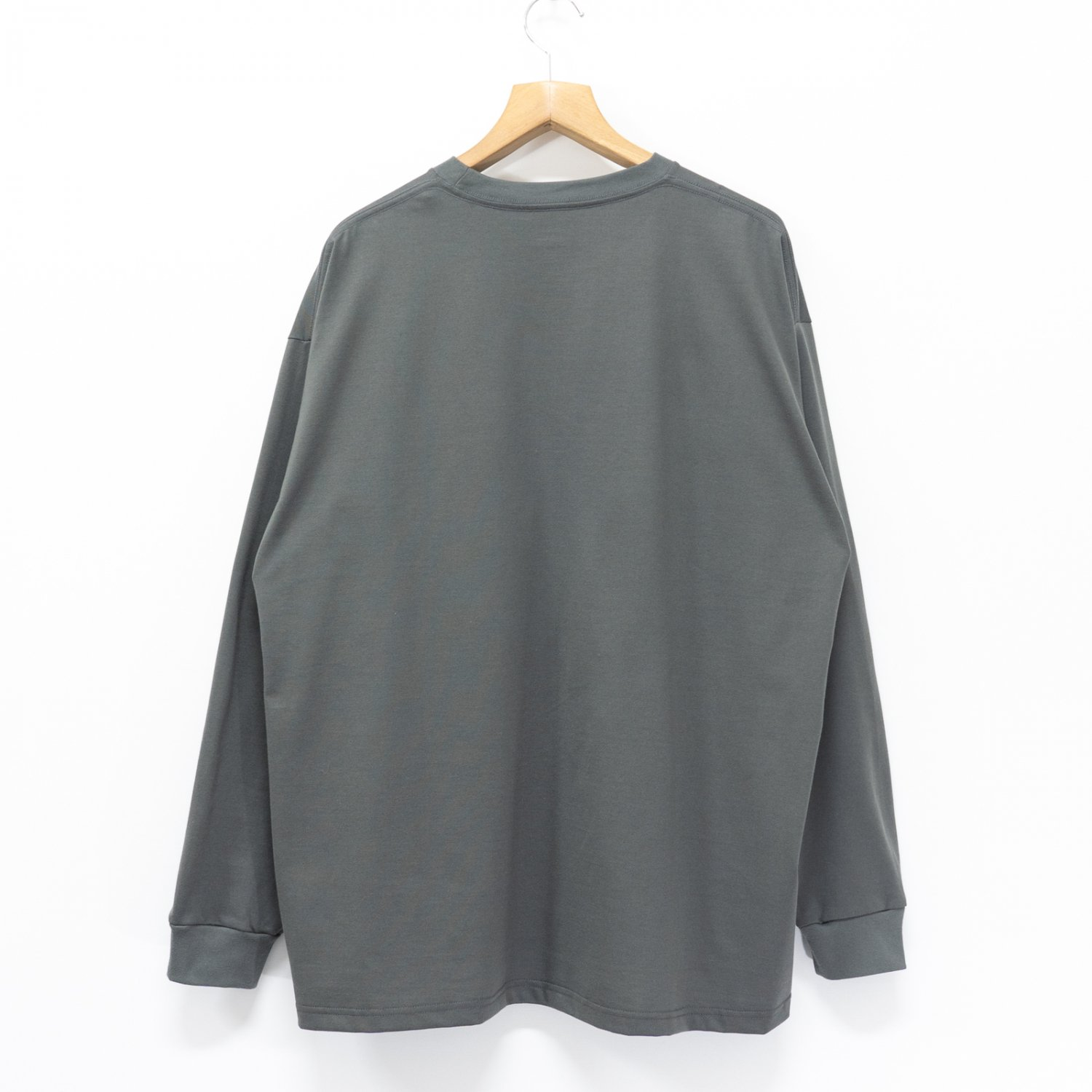 Graphpaper * Jersey Oversized L/S Pocket Tee * Gray