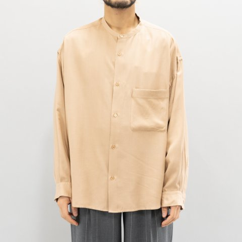 Graphpaper * Viscose Band Collar Big Sleeve Shirt * Beige