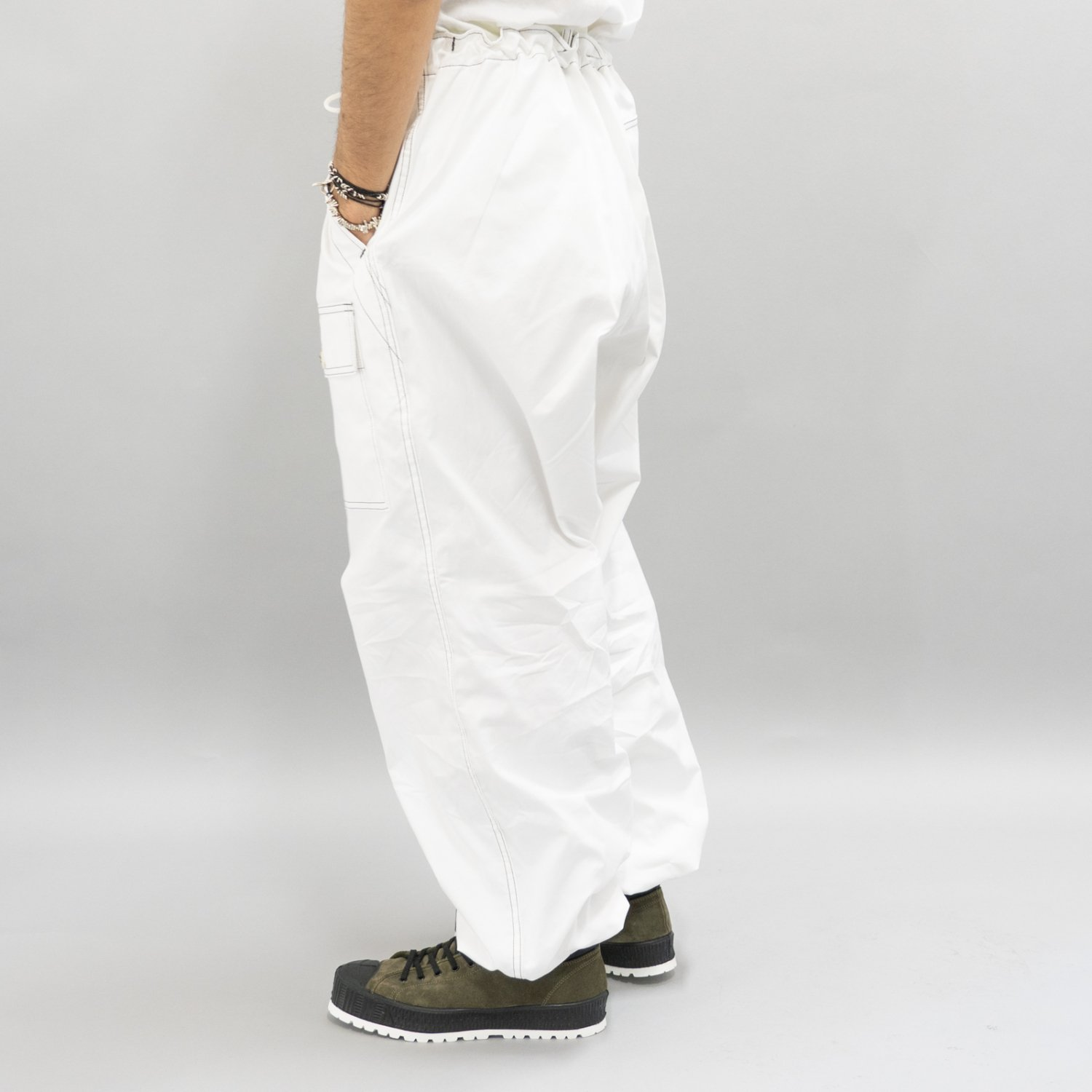 TUKI * 0131 Over Pants * White