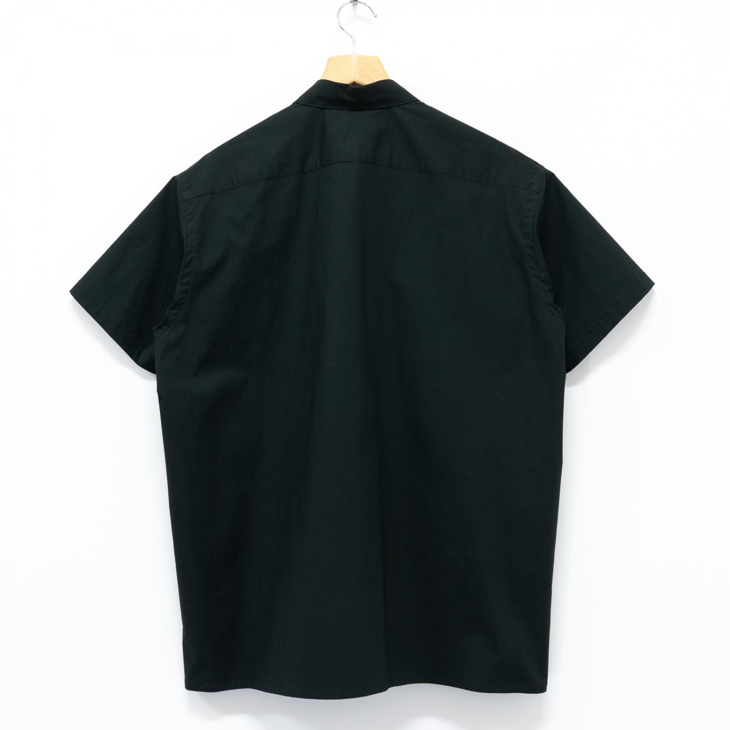 Graphpaper * Stretch Typewriter S/S Box Shirt * Black