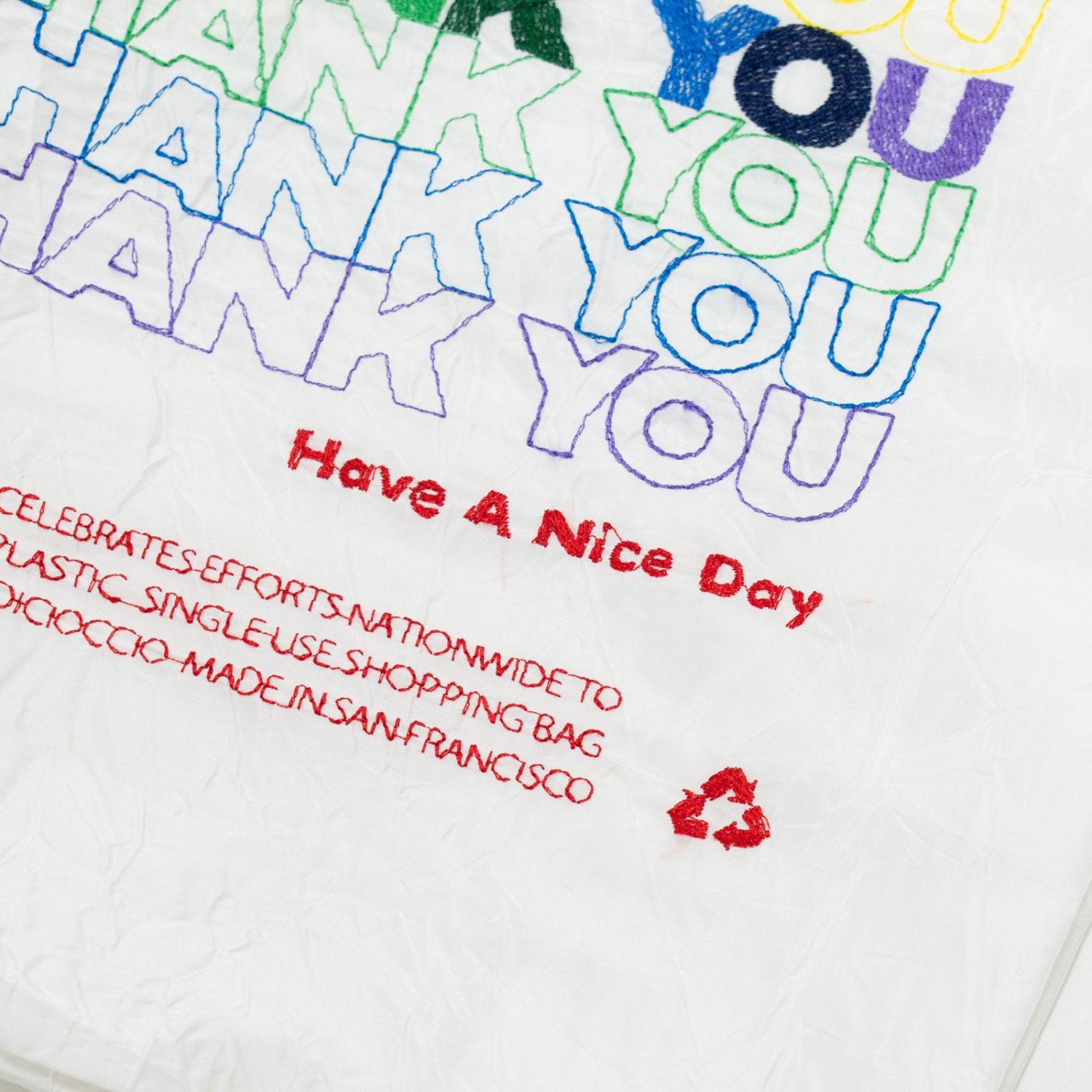 OPEN EDITION *  THANK YOU TOTE * Rainbow