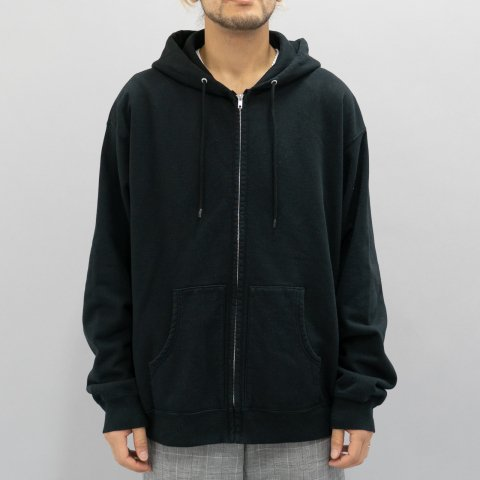 UNUSED * US1738 Sweat Zip Hoodie * Black