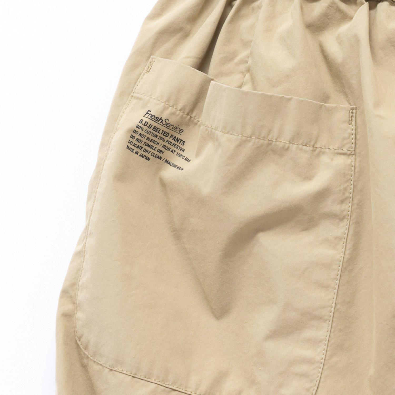 FreshService * B.D.U Belted Pants * Beige