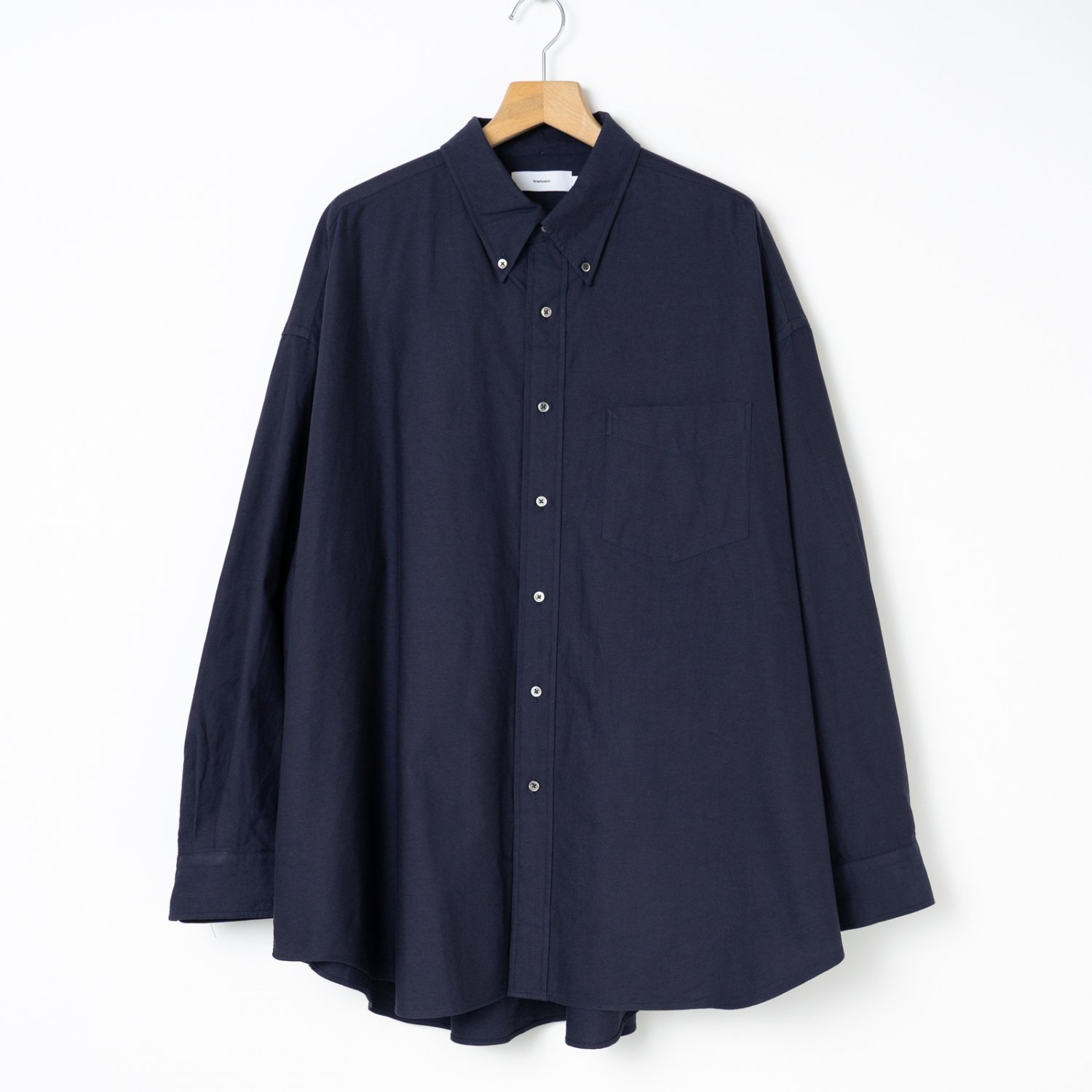 Graphpaper * Oxford L/S Oversized B.D Shirt * Navy