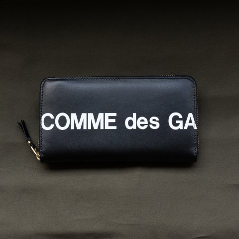 WALLET COMME des GARCONS * HUGE LOGO LONG WALLET * Black