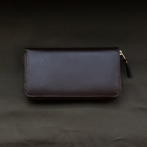 WALLET COMME des GARCONS * CLASSIC LEATHER LINE LONG WALLET * Brown