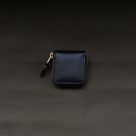 WALLET COMME des GARCONS * CLASSIC LEATHER LINE COIN CASE * Black