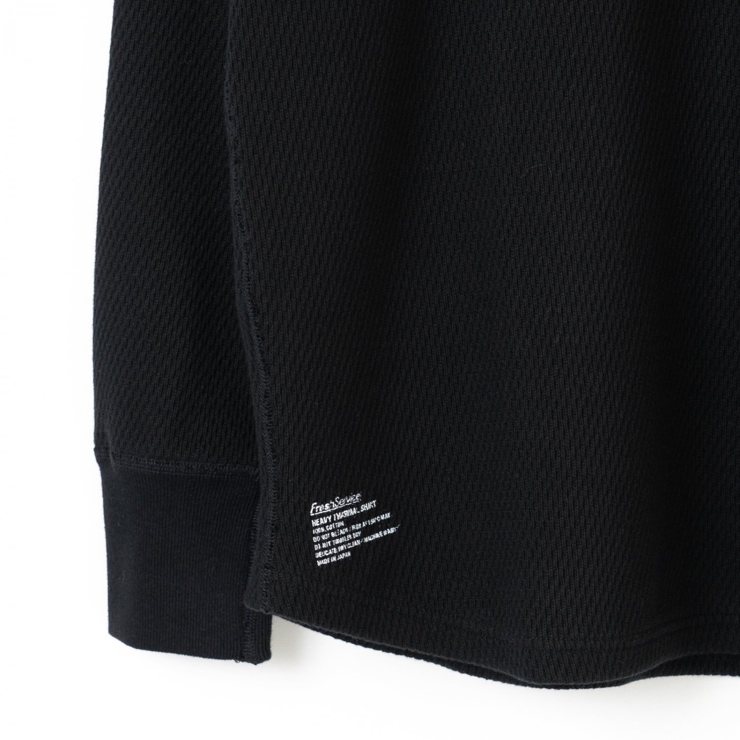 FreshService * Heavy Thermal Shirt * Black