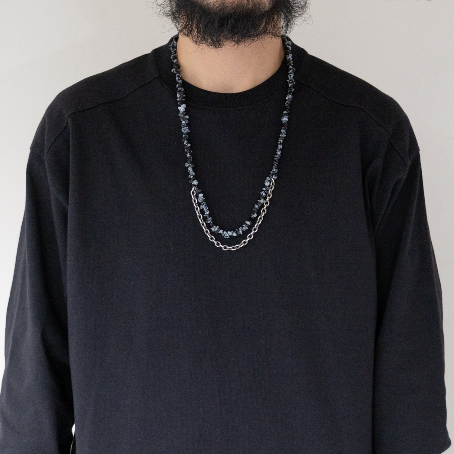 hobo * STONE NECKLACE with 925 SILVER CHAIN(3色展開)