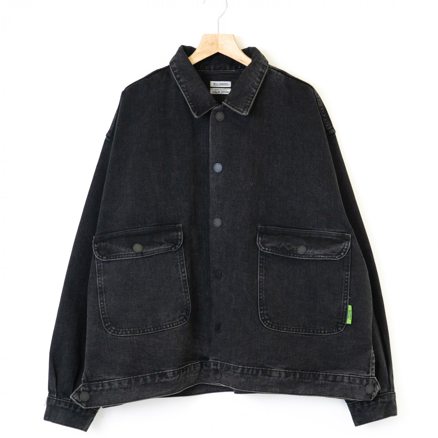 WILLY CHAVARRIA * SILVERLAKE JACKET * Washed Denim Black